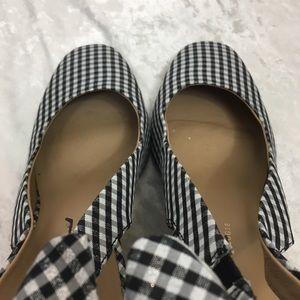 2dacf11b10 Anthropologie Shoes - Anthropologie Gingham Metallic Bow Slingback Heels